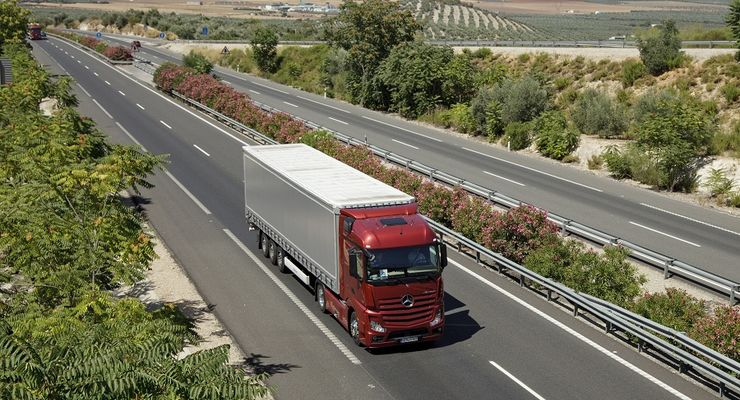 New Actros Testfahrt in Spanien