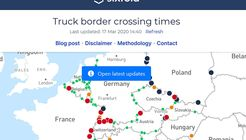 Portal von Sixfold zu Staus an den Grenzen
