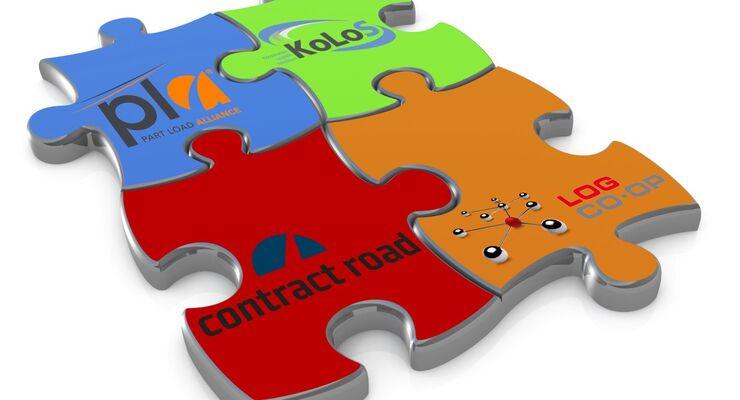 Puzzle, Netzwerke, Kolos, Log coop, Contract road