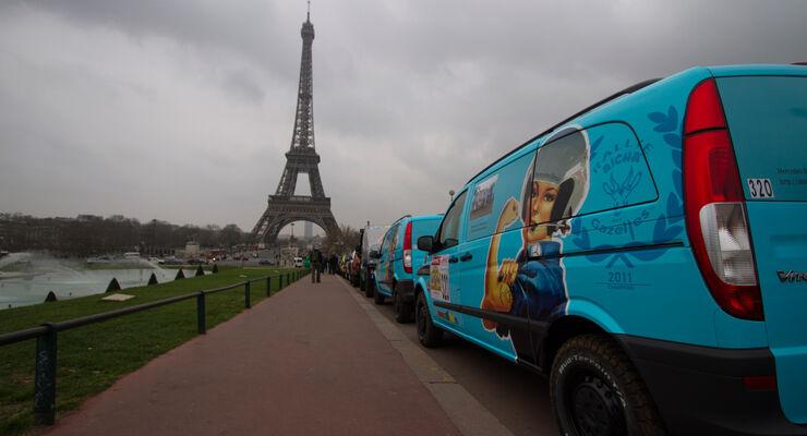 Rallye des Gazelles, Eiffelturm