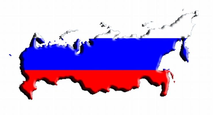 Russland, Fahne, Landkarte