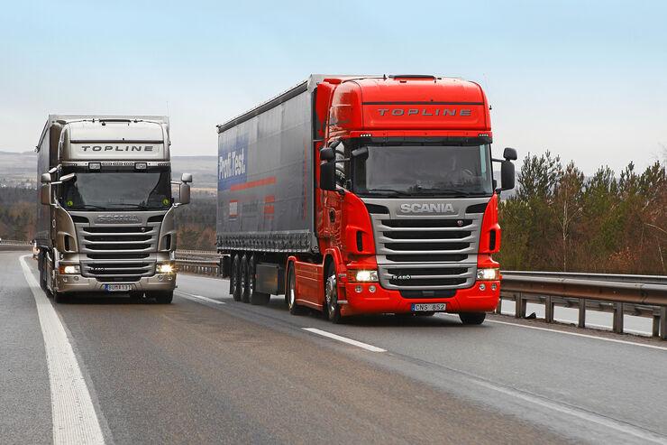 Scania R 480 CCAP gegen R 480 CC