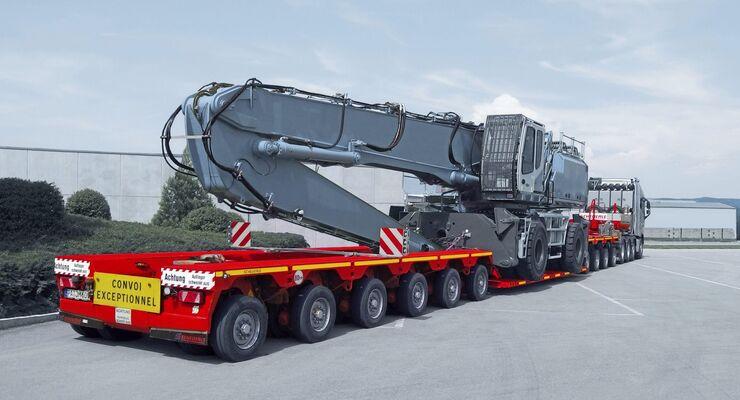 Scheuerle Schwertransport Euro Compact bauma 2019 Tieflader