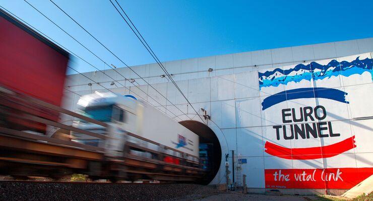 Schienengüterverkehr durch den Eurotunnel