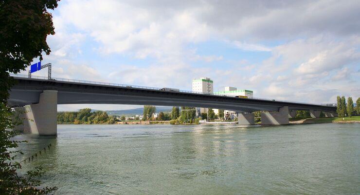 Schiersteiner Brücke Rhein Autobahn