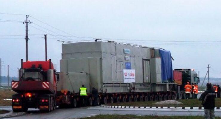 Schwertransport schaltet Minsk den Strom ab