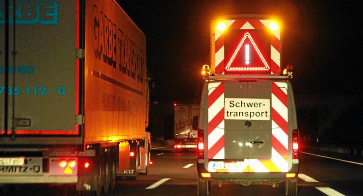 Schwertransporte Begleitung, Nachtransport