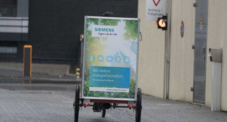 Siemens, Velo Carrier, Stuttgart-Vaihingen, Lastenfahrrad, letzte Meile