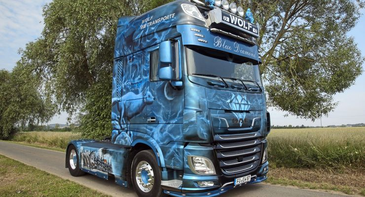 Supertruck DAF XF blau