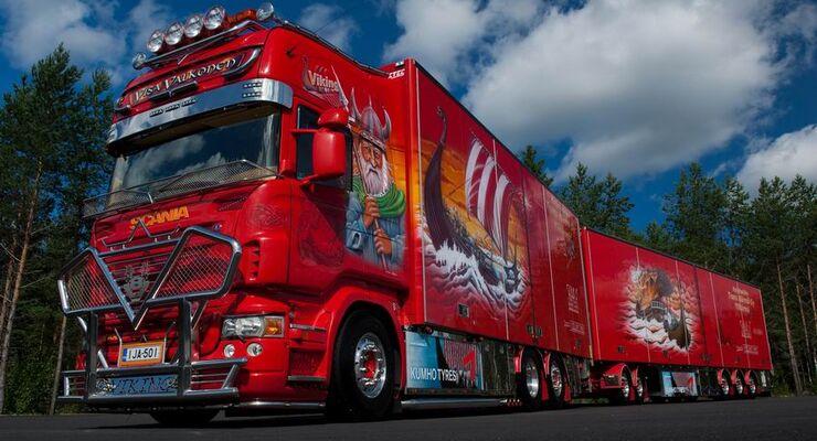 """Supertruck FERNFAHRER 13-2010, Scania """"""""Viking"""""""" von Visa Valkonen aus Finnland"""