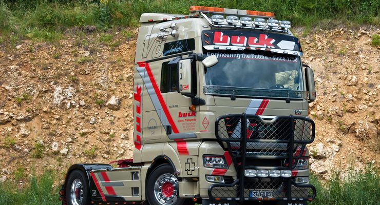Supertruck-MAN TGX von Buck-Transporte