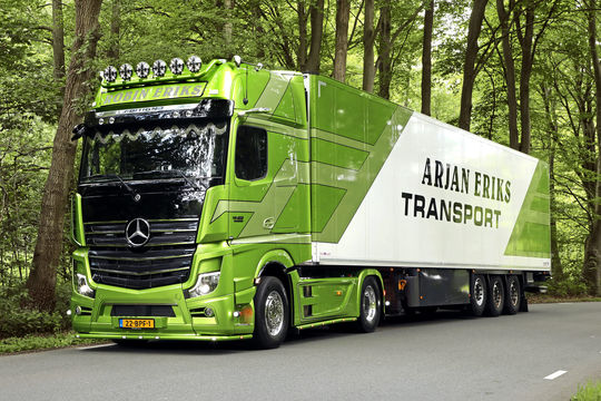 Supertruck Mercedes Actros, Arjan Eriks Transport, FF 11/2020.