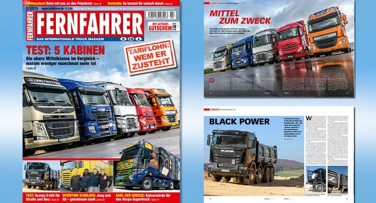 Titelmontage FERNFAHRER Ausgabe 02/2015