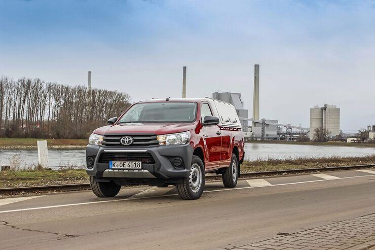 Toyota Hilux Single-Cab Einzelkabine 2020 Dauertest Pick-up 2.4 D-4D