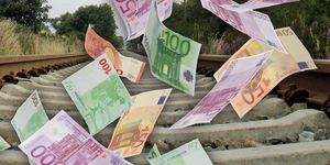 Trassenpreise, Geld, Schiene, Geldscheine