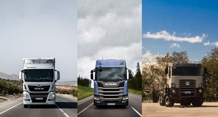 Traton, MAN, Scania und Volkswagen Caminhões e Ônibus, Lkw, Bus