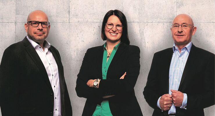 Trio an der VTL-Spitze: Axel Vetter, Johanna Birkhan, Andreas Jäschke (von links).