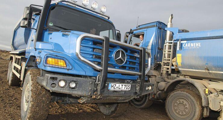 Truckjob FF 3/2017, Zetros-Kipper-Fahrer René Irmler bei ACZ Transport GmbH.