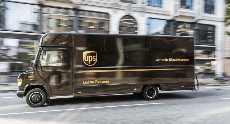 UPS / Standort Hamburg / Emissionsfrei / Elektro / City