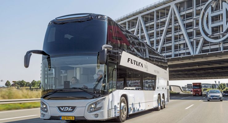 VDL FDD2-141 Doppeldecker, Reisebus, Test LAO 11 2016; DAF MX-13;