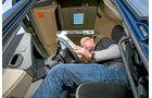 Vergleichstest Euro-6-Zugmaschinen, Lenkradverstellung, Cockpit, Scania