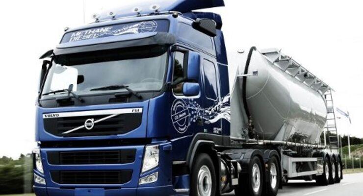 Volvo: Methan-Diesel-Lkw im Test