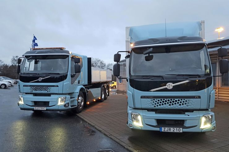 Volvo Trucks Elektro-Lkw Verteilerverkehr Bau-Lkw Baustelle 2020