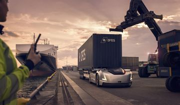 Volvo Vera im Hafen von Göteborg