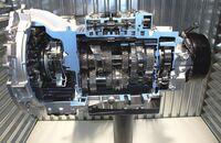 Wandlergetriebe 8HP von ZF mit acht Gängen.