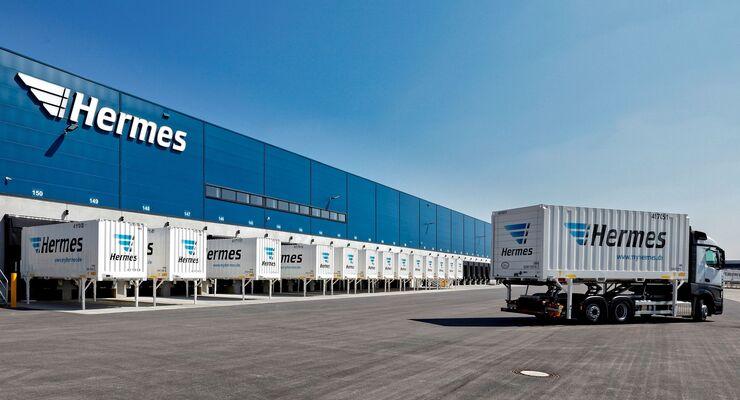 Wechselbrücken im Einsatz bei Hermes Logistik