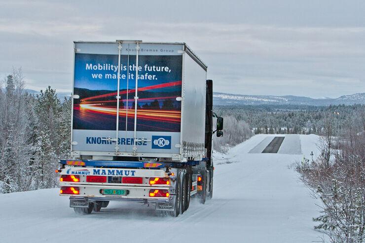 Wintererprobung in Arjeplog, Knorr-Bremse, Teststrecke