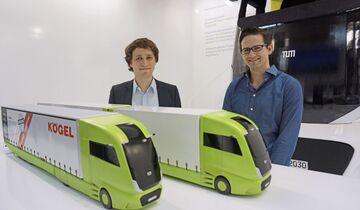 Wotan Wilden, Christian Mährle (von links), TU München, Truck 2030