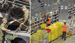 Zeitsoldaten in der Logistik, Amazon, Aldi Süd