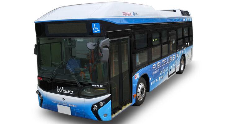 wasserstoffantrieb toyota baut brennstoffzellen bus. Black Bedroom Furniture Sets. Home Design Ideas