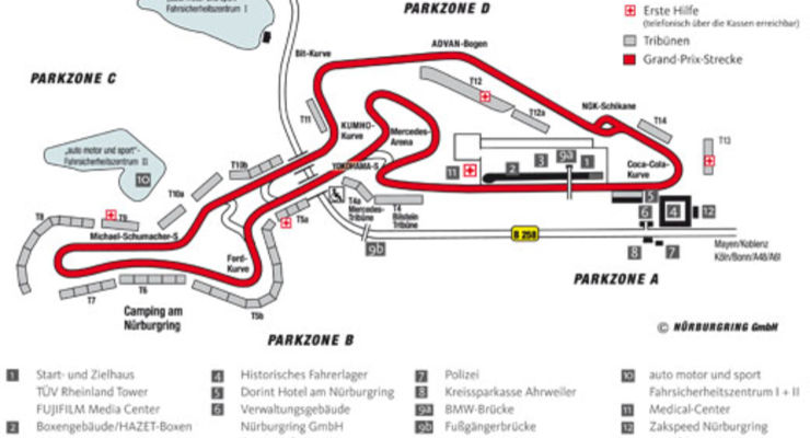Nürburgring Parkplätze