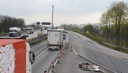 stau, rheinbrücke, autobahn, a4